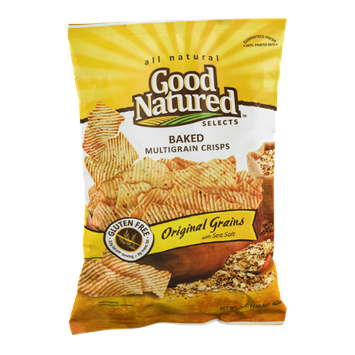 Good Natured Selects All Natural Baked Multigrain Crisps Original Grains with Sea Salt