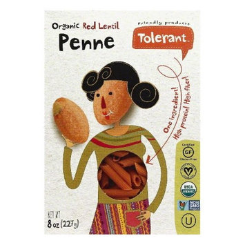 Tolerant 8 oz. Organic Non-Gmo - Pasta Red Lentil Penne Case Of 6