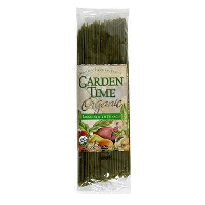 Garden Time Organic Semolina with Spinach Linguini with Spinach, 10-Ounce Units (Pack of 12)