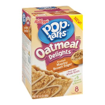 Kellogg's Pop-Tarts Oatmeal Delights Frosted Mapley Brown Sugar Toaster Pastries