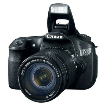 Canon EOS Rebel 60D 18MP Digital SLR Camera with 18-135mm IS Lens -