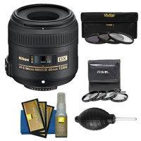 Nikon 40mm f/2.8 G DX AF-S Micro-Nikkor Lens + 7 UV/CPL/ND8 & Close-up Filters + Nikon Cleaning Kit for D3100, D3200, D3300, D5100, D5200, D5300, D7000, D7100 DSLR Cameras