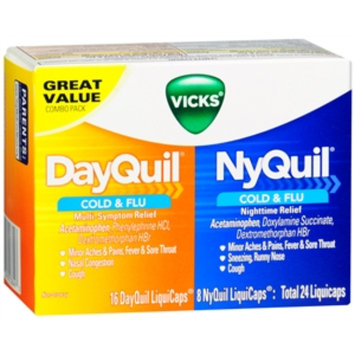 Vicks Dayquil Nyquil Cold & Flu Relief Combo Pack, LiquiCaps, 24 ea