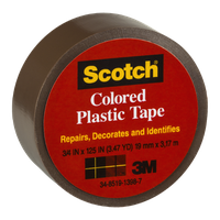 Scotch Brown Colored Plastic Tape