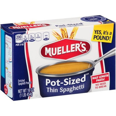 Mueller's Pot-Sized Thin Spaghetti Pasta, 16 oz