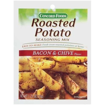 Concord Foods Roasted Potato Bacon & Chive Seasoning Mix 1.25oz Package (VALUE Case of 18 Packages)