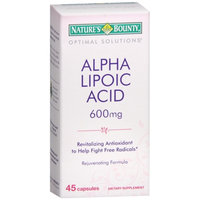 Nature's Bounty Optimal Solutions Alpha Lipoic Acid 600mg, Capsules
