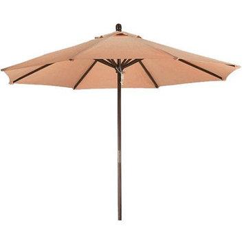Lauren & Company Round Antique Beige Patio Umbrella with Pulley (Common: 108-in; Actual: 108-in) LCUD003R-ANTIQUE