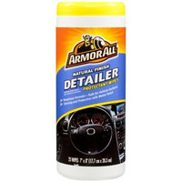 Armor All 78503 Natural Finish Detailer Protectant Wipe - 25 Sheets