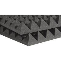 Auralex 4 Studiofoam Pyramid 2'x2'x4 panels (6 pack) Charcoal 4 Inch