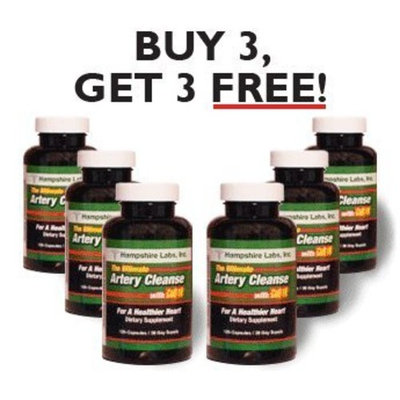 Ultimate Artery Cleanse with CoQ10 - Six Month Supply!