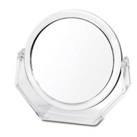 Danielle D205 Ultra Vue Clear Acrylic Collection Easel Style Vanity Mirror, 10x, Clear