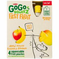 GoGo Squeeze GoGo squeeZ Fast Fruit Apple Mango Pineapple Banana Squeezable Fruit