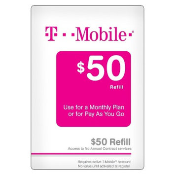 T-Mobile Pre-paid Cell Phone Card T-MOBILE 50