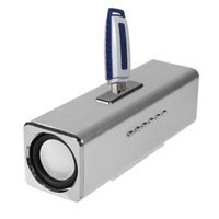 Insten INSTEN Silver Speaker For PC Computer Laptop iPod MP3 iPhone Cell phone Mobile