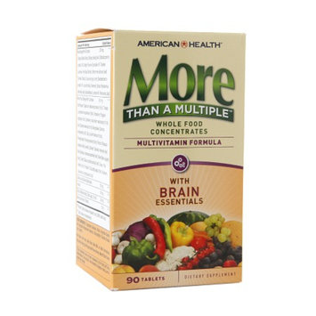 American Health More Than A Multiple Multivitamin Formula with Brain Essentials, Tablets, 90 ea