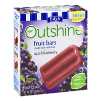 Edy's Outshine Fruit Bars Acai Blueberry - 6 CT
