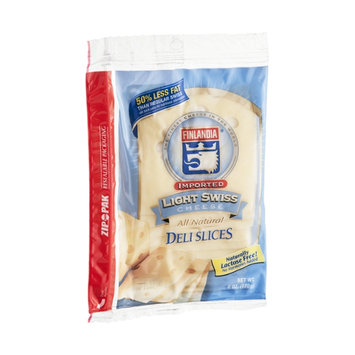 Finlandia Cheese Deli Slices Light Swiss All Natural Imported
