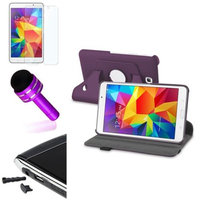Insten INSTEN Purple Leather 360 Case+Protector/Pen/Cap For Samsung Galaxy Tab 4 7.0 7