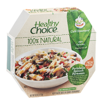 Healthy Choice Cafe Steamers Portabella Spinach Parmesan