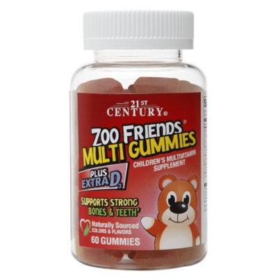 21st Century Zoo Friends Multi Gummies Plus Extra D3, 60 ea