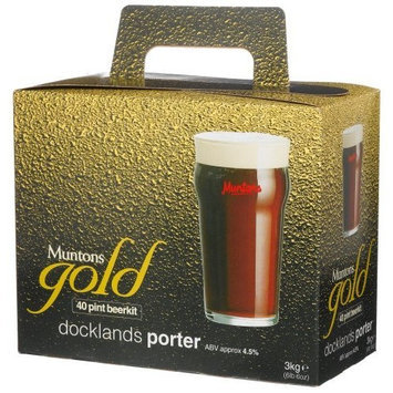 Muntons Gold 40 Pint Beerkit, Docklands Porter, 102-Ounce Box