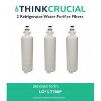 Crucial Air 3 LG LT700P (RFC1200A) Refrigerator Water Purifier Filters Fit LG ADQ36006101 & ADQ36006101-S