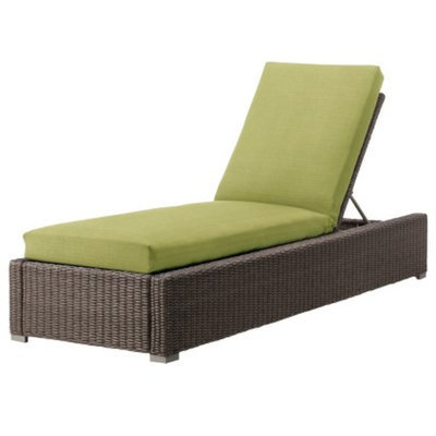 Outdoor Patio Furniture: Threshold Lime Green Wicker Chaise Lounge,
