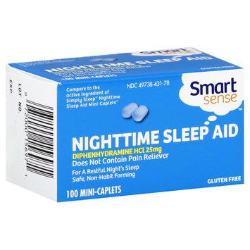 Smart Sense Nighttime Sleep Aid, 25 mg, Mini Caplets, 100 mini caplets - KMART CORPORATION