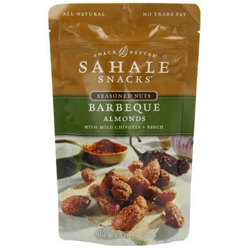 Sahale Snacks Barbeque Almonds with Mild Chipotle + Ranch, 4-Ounce Bags (Pack of 6)