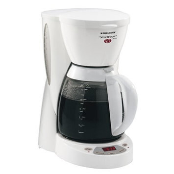 Black & Decker DCM2500W SmartBrew 12-Cup Coffeemaker, White