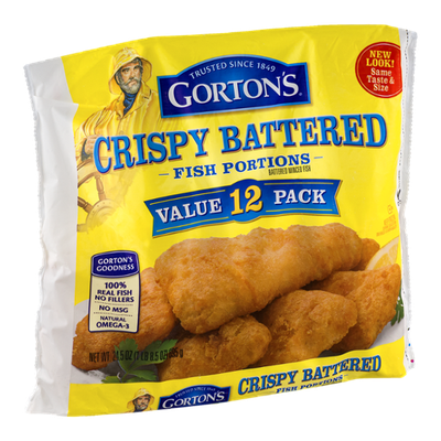 Gorton's Crispy Battered Fish Portions - 12 CT