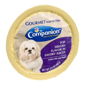 Companion Gourmet Food for Dogs Top Sirloin Flavor