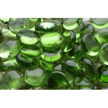 Glass Gems - Green - 90 pieces