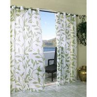 Outdoor Decor Escape Leaf Indoor/Outdoor Grommet Top Window Sheer -