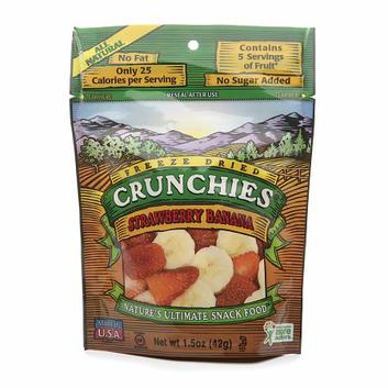 Crunchies Freeze Dried Snack Food Strawberry Banana
