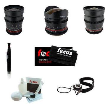 Rokinon Super Fast T1.5 Cine Lens Kit - 24mm + 35mm + 85mm for Sony E-Mount-NEX