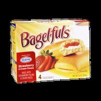 Bagel-fuls Strawberry & Cream Cheese Bagel - 4 CT