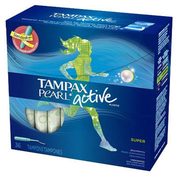 Tampax Pearl Active Super Absorbency Tampons - 36 Count