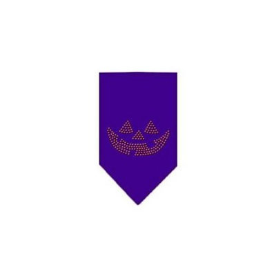 Ahi Jack O Lantern Rhinestone Bandana Purple Small