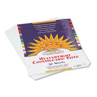 Sunworks SunWorks Construction Paper, 58 lbs, 9 x 12, Bright White, 50 Sheets/Pack