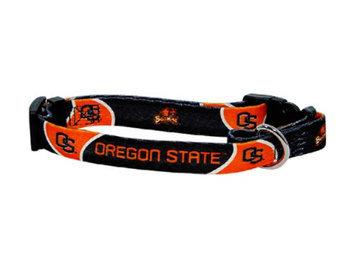 Doggie Nation.com Oregon State Beavers Black-Orange Pet Collar