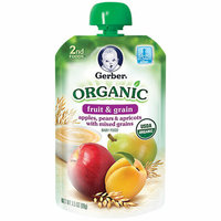 Gerber Organic 2nd Foods Plastic Gerber Organic 2nd Foods Apples Pears & Apricots with Mixed Grains Baby Food
