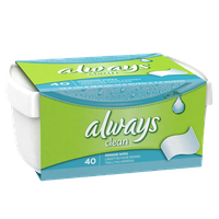 Always Wipes Tub, 40 Count