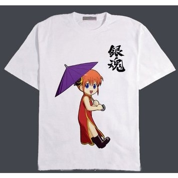 World Classics Trading Silver Soul Gintama Kagura White Tshirt, Size XL Please Notice the Measurment