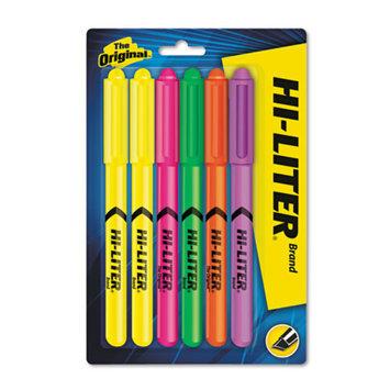 Avery Dennison 23565 Fluorescent Pen Style Highlighter Chisel Tip 6/set