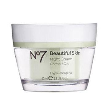 Boots No7 Beautiful Skin Night Cream, Normal / Oily, 1.6 fl oz