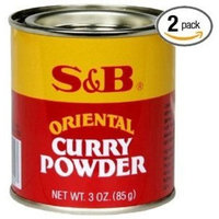 S B S&B Curry Powder, Oriental, 3 oz (85 g) (Pack of 2)