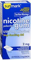 Sunmark Nicotine Polacrilex Gum, 2 mg, Original Flavor 50 each by Sunmark
