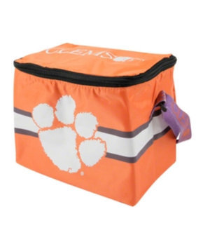 Forever Collectibles Clemson Tigers Lunch Bag: 6 Pack Zipper Cooler